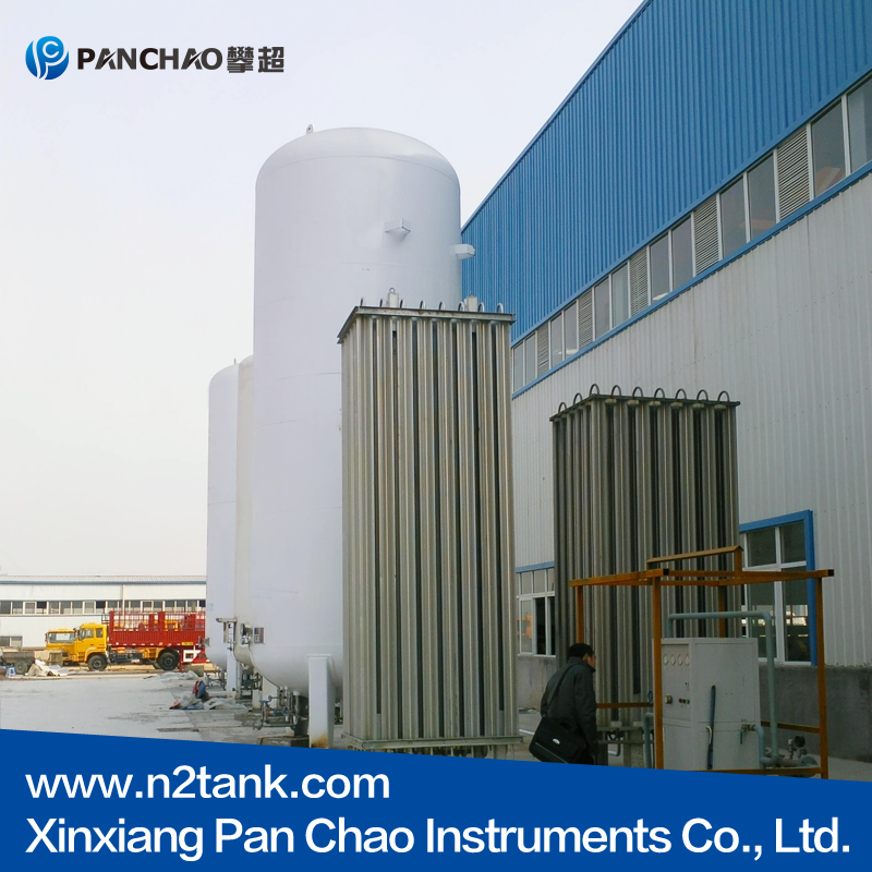 vertical cryogenic liquid storage tank for LIN LOX LAr LNG