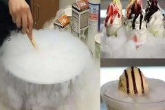 Liquid nitrogen ice cream disrupts the entire